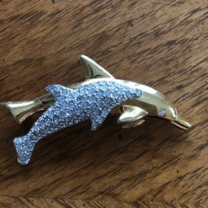 Swarovski Authentic Dolphin Pin Brooch 1992